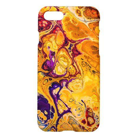 Brilliant Yellow Orange Fractal Design iPhone 8/7 Case #fractal #pattern #iphone #protective #cases
