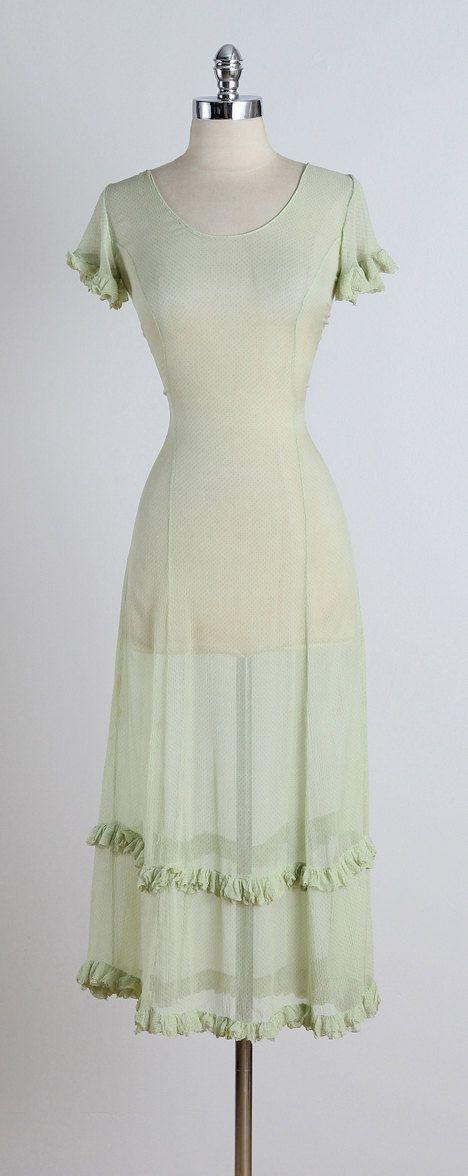 Evening Mist . vintage 1930s dress . vintage by millstreetvintage