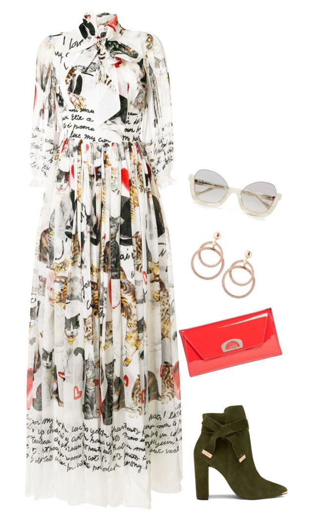 Untitled #3713 by elia72 on Polyvore featuring polyvore, fashion, style, Dolce&Gabbana, Ted Baker, Christian Louboutin, La Perla and clothing #elia72