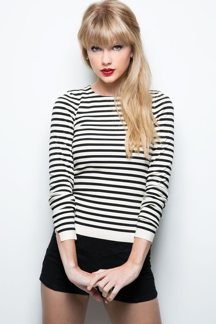 I love a stripey top and red lip. People always say I look bit like Taylor Swift - I wish!!!