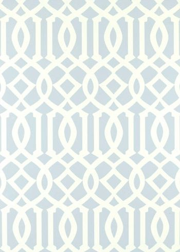 Imperial Trellis Soft Aqua Wallpaper