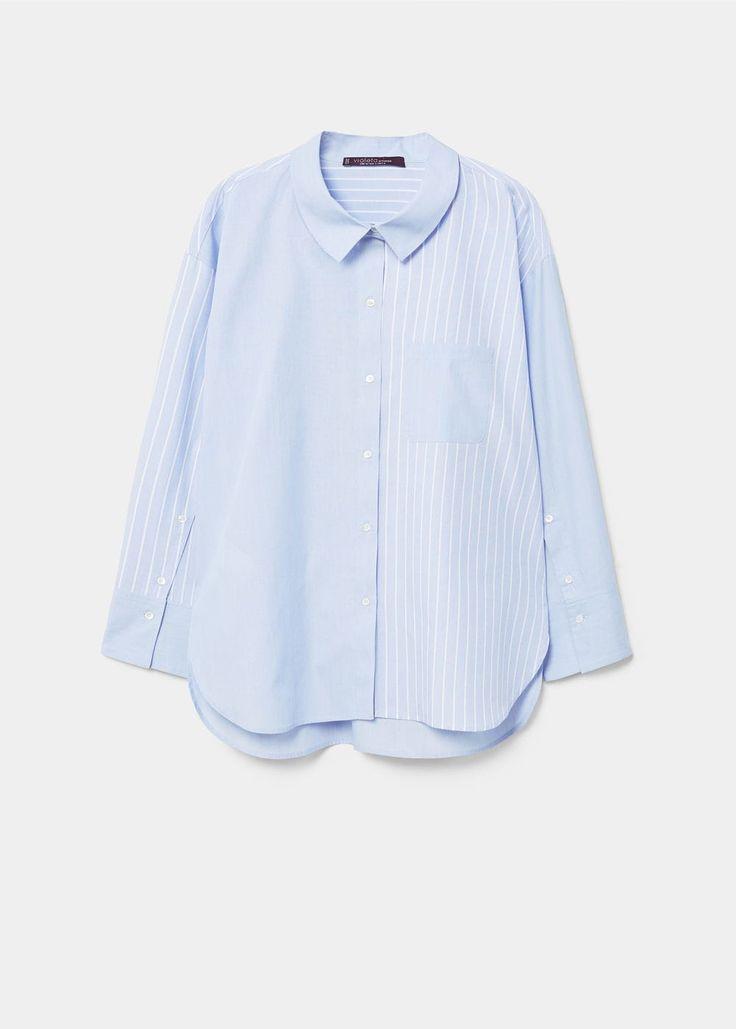 Hemd aus baumwoll-mix   VIOLETA BY MANGO Hemd aus Baumwoll-Mix REF. 21040751 - STELLE 49,99€