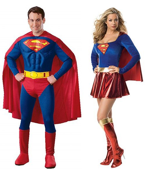 super couple supergirl httpwwwpartyworldiewomens - Mens Couple Halloween Costumes