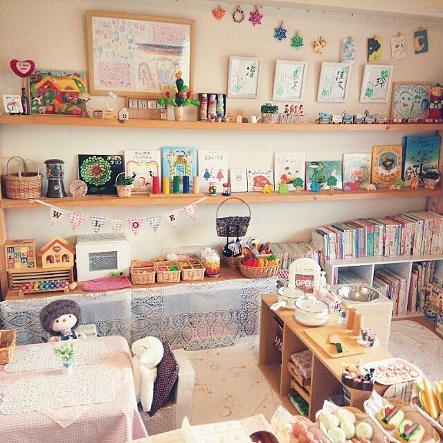 おままごと/雑貨/ダイソー/本棚/カラーボックス/おもちゃ…などのインテリア実例 - 2015-01-17 08:22:04 | RoomClip(ルームクリップ)