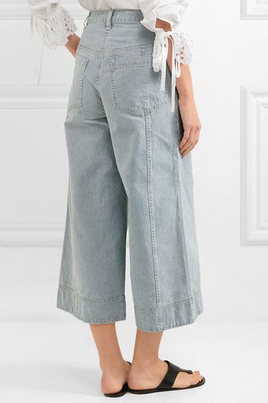 Ulla Johnson - Giada Cropped Striped High-rise Wide-leg Jeans - Mid denim - US10