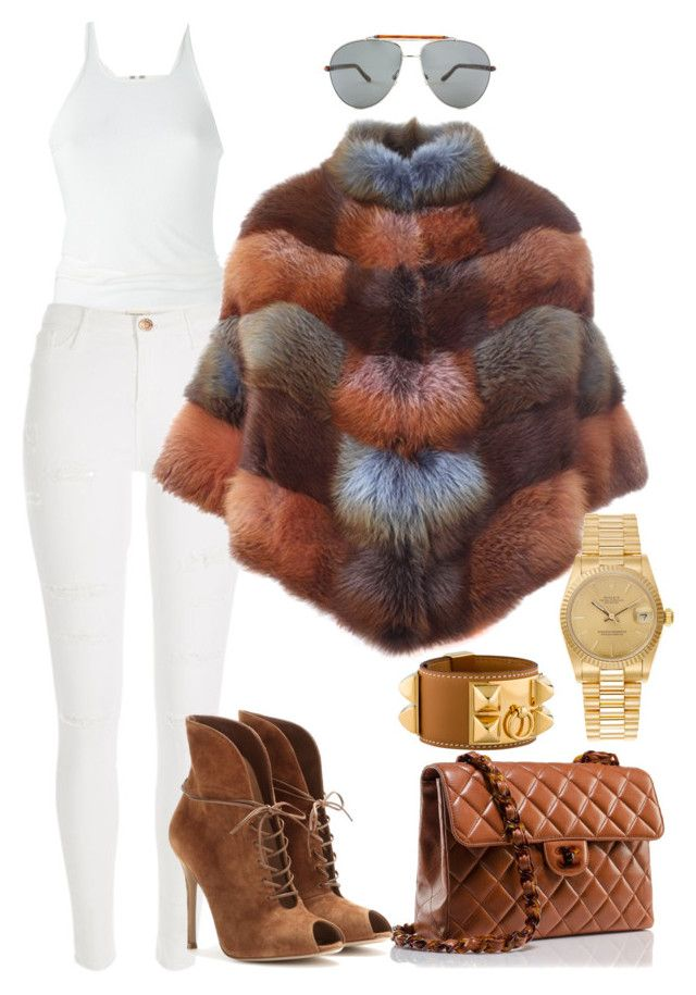 """""""Untitled #257"""" by scannedbyaaron ❤ liked on Polyvore featuring Chanel, Rick Owens, River Island, BLANCHA, Gianvito Rossi, Hermès, Tom Ford and Rolex"""