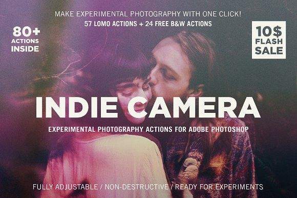 Indie Camera for Adobe Photoshop by Guerillacraft on @creativemarket