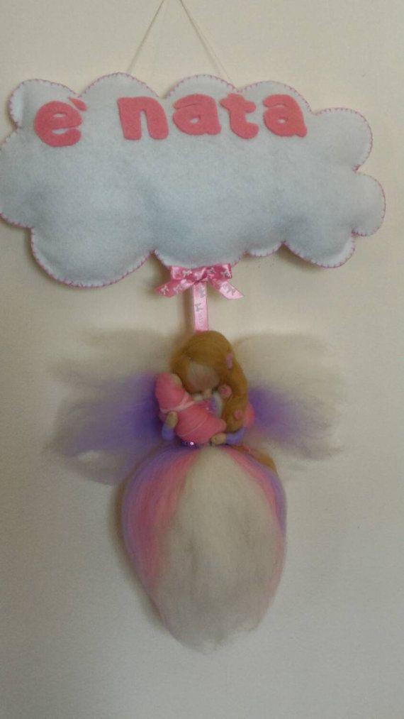SWEET fairy tale and wool felt birth ARRIVAL fuoriporta