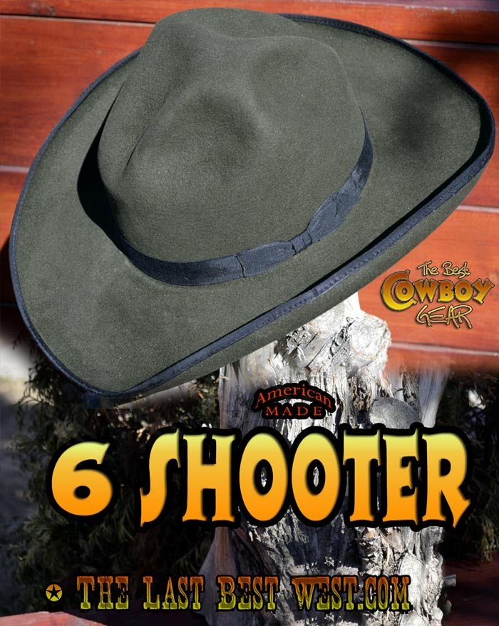 0b6cb0154da1a 6 Shooter Western Dress Hat