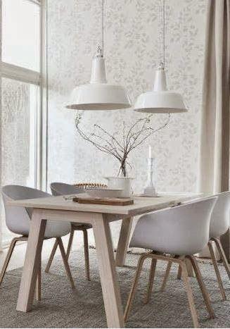 Scandinavian industrial dining room