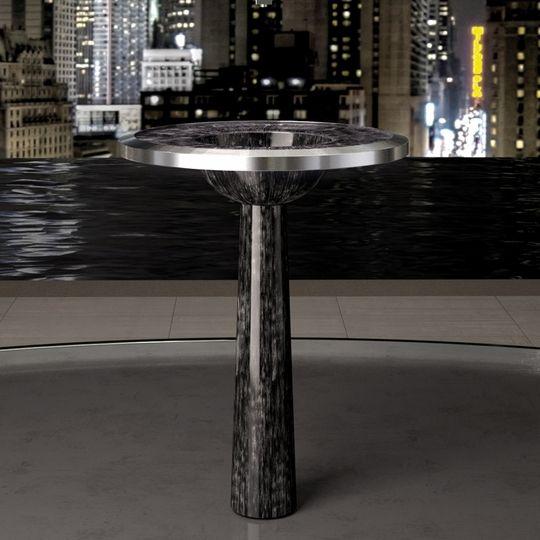 alumix bj black silver modern pedestal sink the alumix material which is a durable aluminum alloy - Modern Pedestal Sink