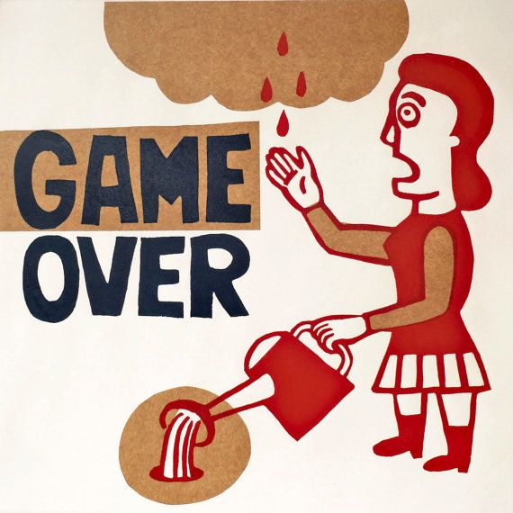 game over fin del juego por ARTeFAKTshop en Etsy