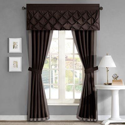 Home classics trilby window treatments valance also for Kohls valances