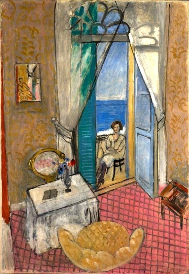 HENRI MATISSE (Francés: 1869 - 1954) Matisse fue el precursor del fauvismo, un movimiento caracterizado por el empleo pasional del color. Su nombre procede del calificativo (fauve = fiera) dado por el crítico de arte Louis Vauxcelles al conjunto de obras presentadas en el Salón de Otoño de París de 1905 / Interior at Nice