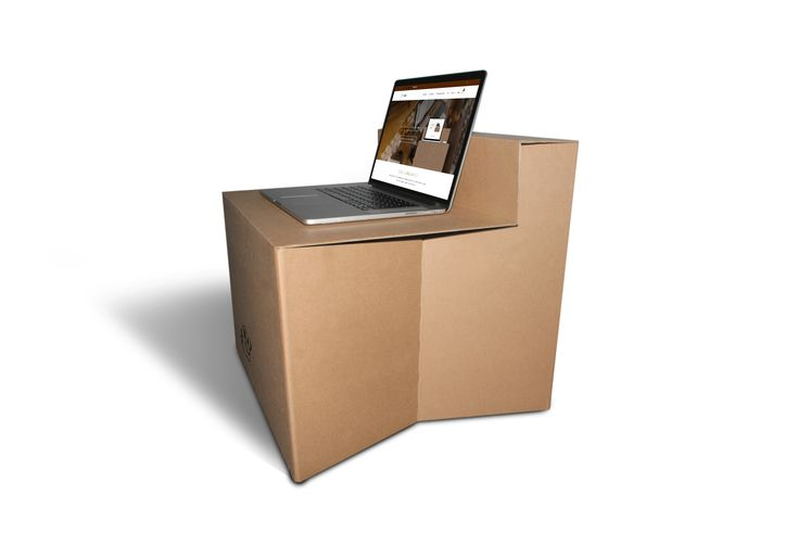 CLOSE UP writes about the Rivolutionary Cardboard Standing desk  HELLOSTANDY  Read more about