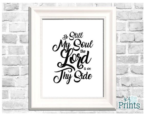 There is nothing more comforting to me than the words of this hymn. Be Still My Soul. The Lord is on thy side. This hymn holds a lot of special meaning to me, and I wanted to be able to not only share this beautiful religious print with you, but hang it in my own home. This black and white, monochrome color scheme gives this LDS word art a classic, clean feel that will go with any decor. Invite the spirit into your home by displaying this lovely print.  -Technical Details- This product comes…