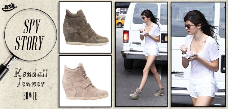 "#kendalljenner indossa le sneakers con zeppa ""Bowie"" di #ash!"