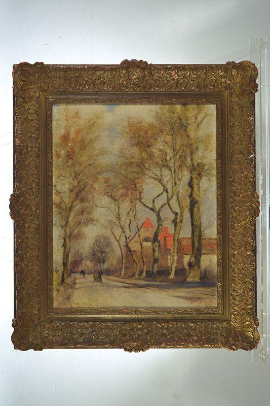 Carl Joisten, geb. 1885 München, Straße in Freimann-München, Öl/Lwd, rechts unten signiert und bez. München, rückseitig betitelt, ca. 50x40cm, R.  122,- €