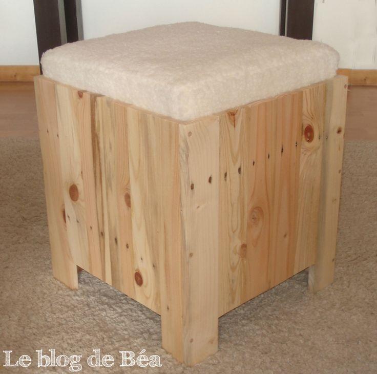 Les 25 meilleures id es concernant coffre de rangement for Fabrication de meuble en bois de palette