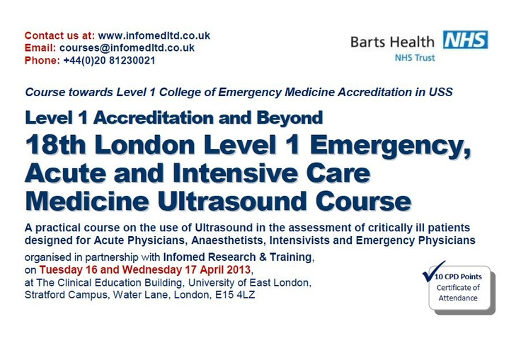 18th London Level 1 Emergency, Acute and Intensive Care