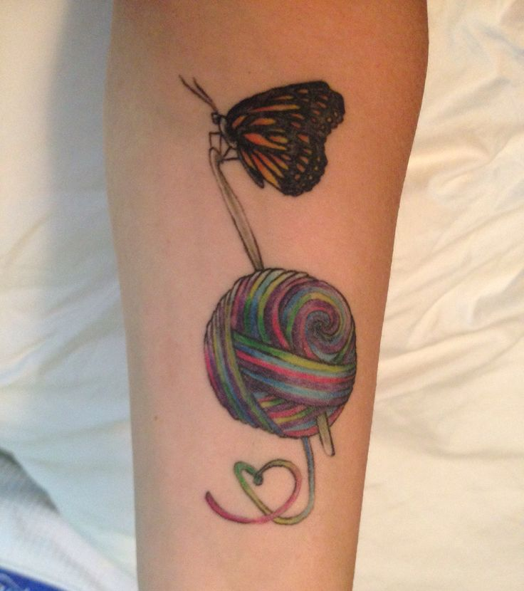 Knitting Tattoo Images : Best crochet tattoos images on pinterest