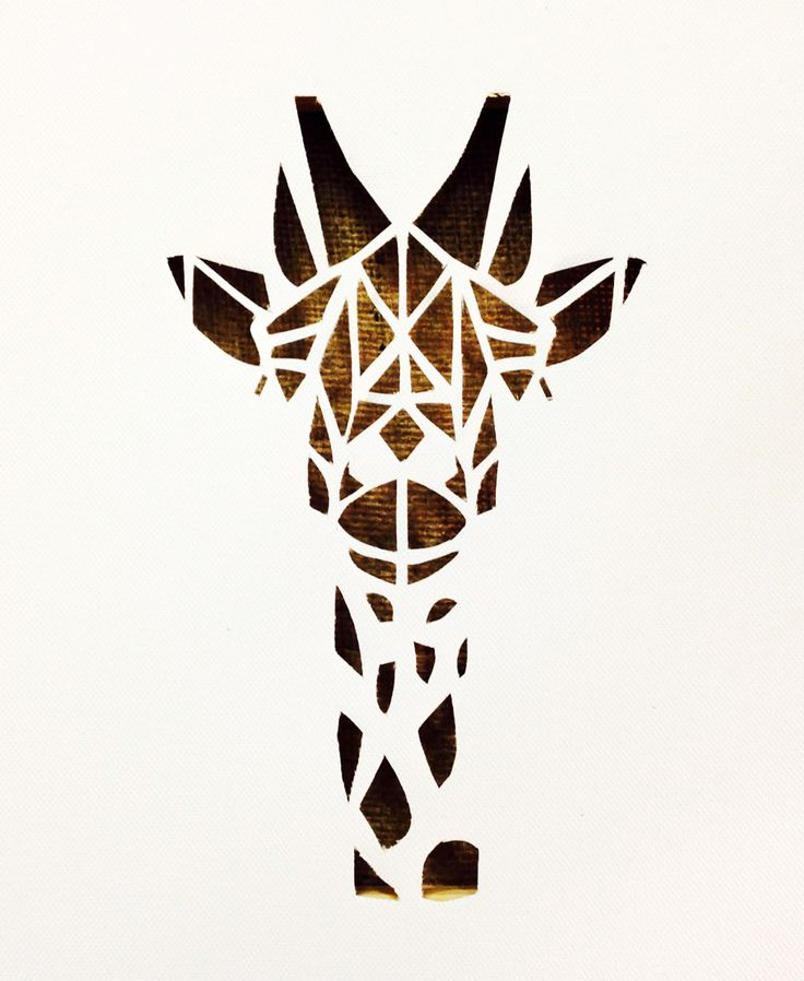Canvas cutout #canvasart #giraffe