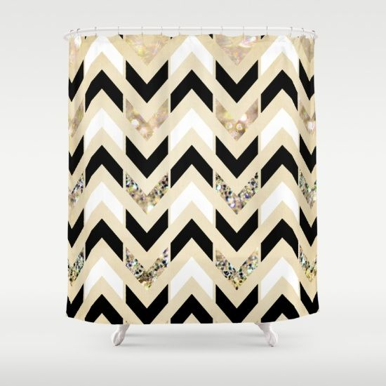 Black  White   Gold Glitter Herringbone Chevron on Nude Cream Shower CurtainBest 25  Cream shower curtains ideas on Pinterest   Elegant  . Black And Cream Shower Curtain. Home Design Ideas