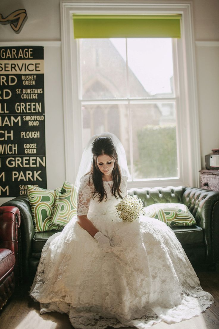Bride wears a Justin Alexander wedding gown and original 60s veil | Photography by http://draganzlatanovic.com/