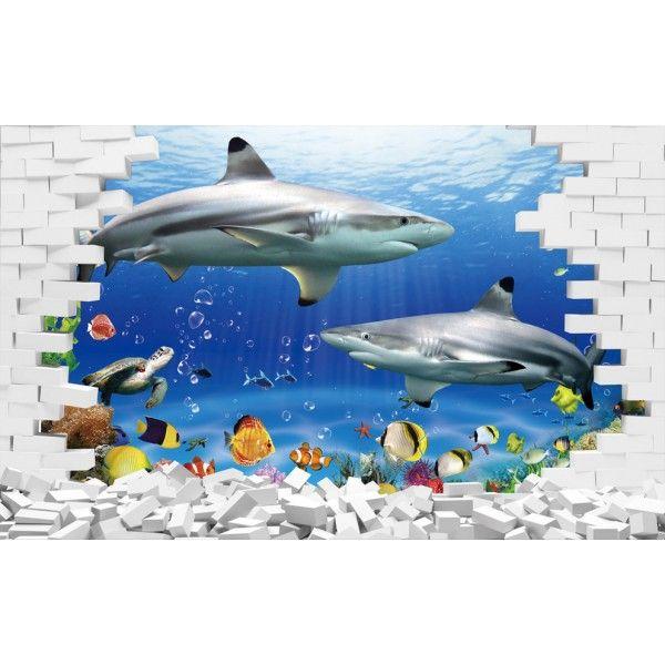 20 best images about papier peint 3d fond marin on - Fond aquarium 3d ...