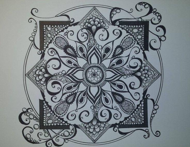 mandala, black & white https://www.facebook.com/creative.baha/