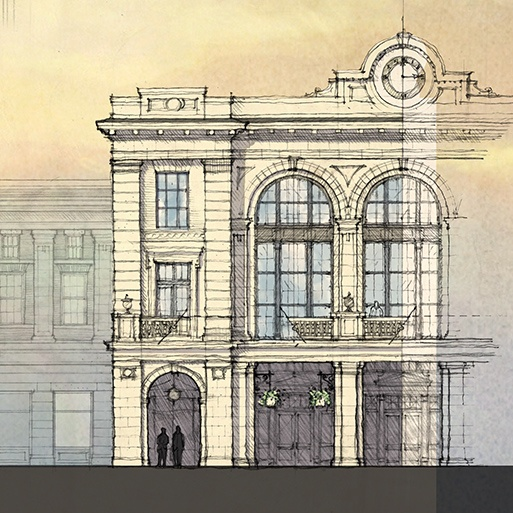 Meeting Street Station - Detail of Grand Concourse by Historical Concepts