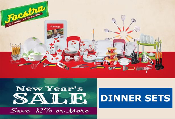 Join the hottest Sale of the season with a Flat 82% Off Sale. We've picked out our top Offers, just for you! Shop >>  #shopclues #Focstra #newyearsale #Dinnerset #Offers