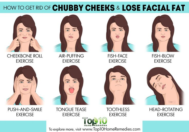 how to get rid of chubby cheeks