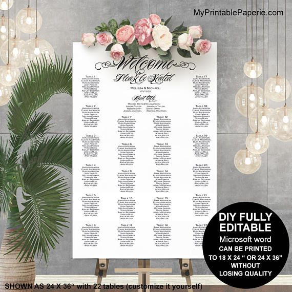 Best 25 Diy Wedding Planner Ideas On Pinterest: 25+ Best Seating Chart Template Ideas On Pinterest