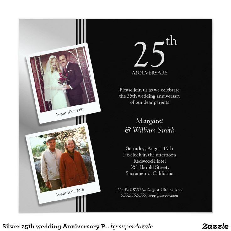 25th Wedding Anniversary Invitation Cards For Parents: 443 Best Anniversary Cards ,Gifts And Invitations Images