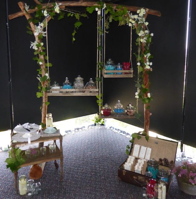 We love this hanging lolly buffet.  http://www.tailracecentre.com.au/weddings/