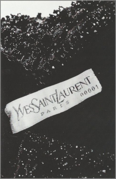 The label from yves saint laurent s first dress 1961 for Haute couture labels