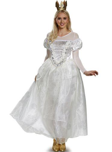 Disfraz de Reina Blanca Alicia a Través del Espejo prestige para mujer