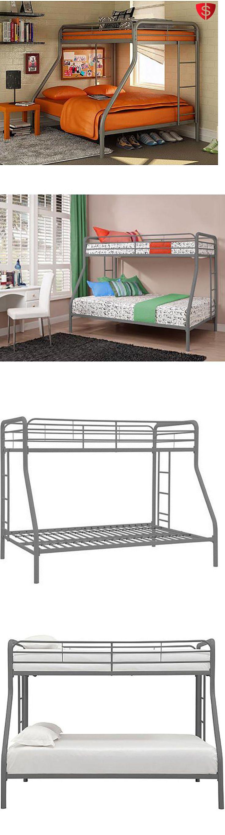 Kids Furniture: Metal Bunk Beds Twin Over Full Kids Bedroom Bed Dorm Furniture Boys Girls Ladder -> BUY IT NOW ONLY: $182.29 on eBay!