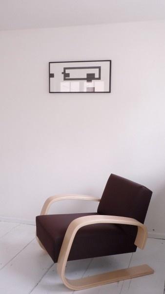 Armchair 400 by Alvar Alto