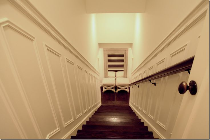 1000 ideas about basement wainscoting on pinterest trim for Enclosed staircase design