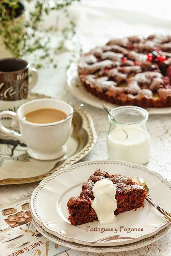 POTINGUES Y FOGONES: Tarta especiada de chocolate y piña