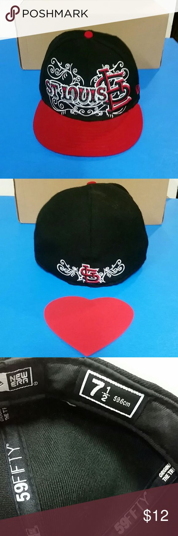 St Louis Fitted 59FIFTY Baseball Cap St . Louis Fitted 59FIFTY Baseball Cap  In excellent condition / Multicolored  Pre-owned / Eye-catching / Comfortable New Era Accessories Hats