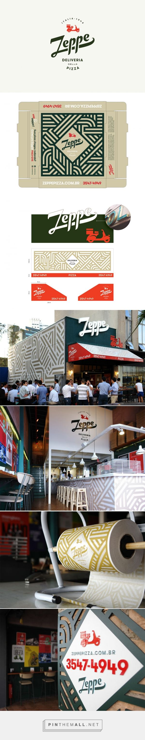 Rafael Ayres and Daniel Escudeiro: visual identity for Zeppe — Deliveria della Pizza. Logo Design Love