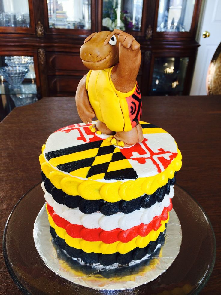 University of Maryland Cake - Maryland Flag and Testudo