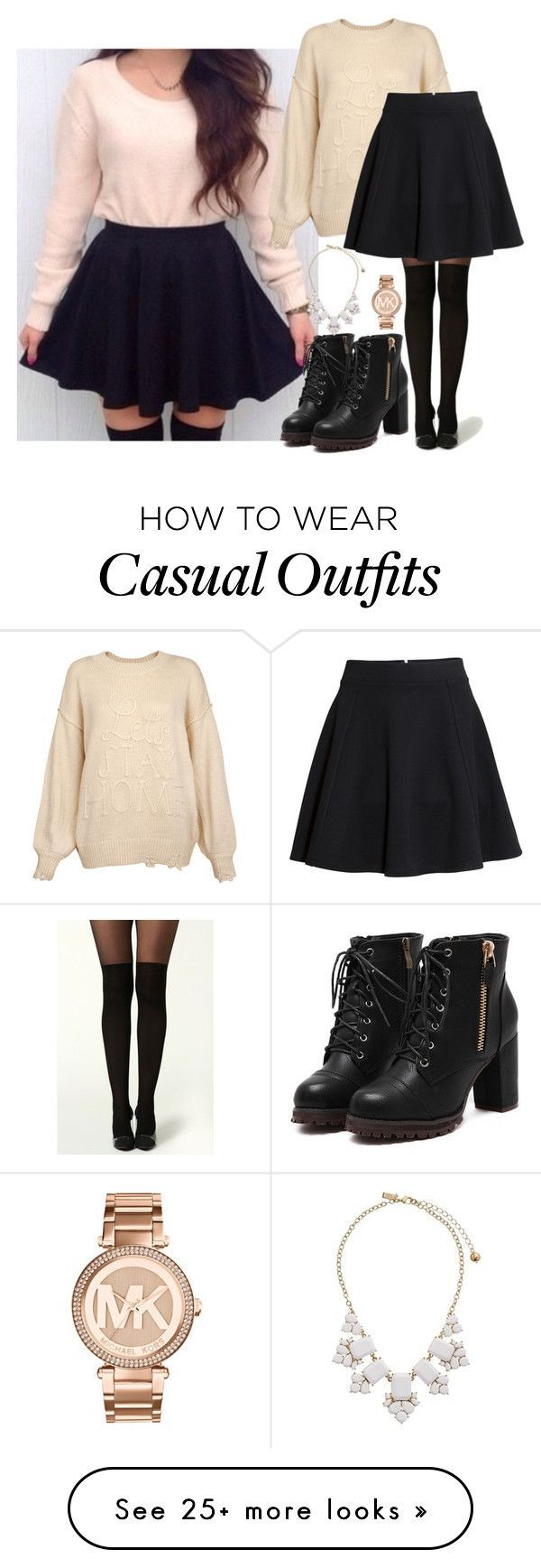 """Casual"" by chap15906248 on Polyvore featuring Wildfox, H&M, Michael Kors and Kate Spade"
