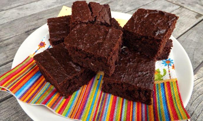 Fazolové brownies bez mouky