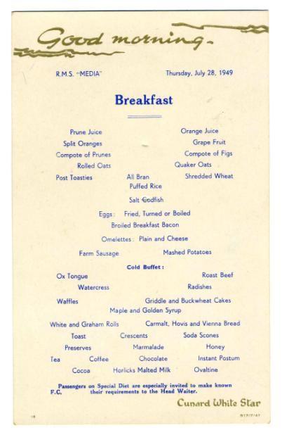 how to write a heavy breakfast menu