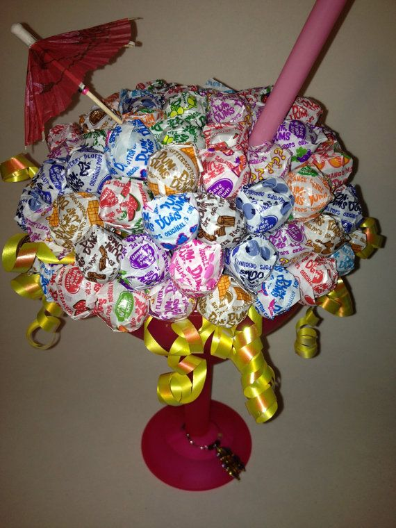 Sweet and Sassy Dum Dums Lollipop Margarita Glass Gift Basket