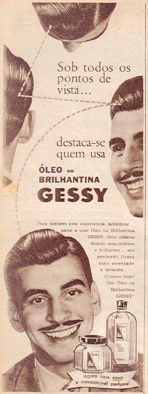 """""""Brilhantina"""" nos cabelos era um luxo,anos 50, from http://www.memoriaviva.com.br"""